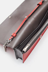 Wallet With Chain - Scarlet Red/Brick Red