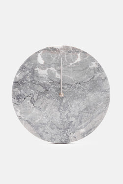 Grey Marble Wall Clock with Stainless Hands