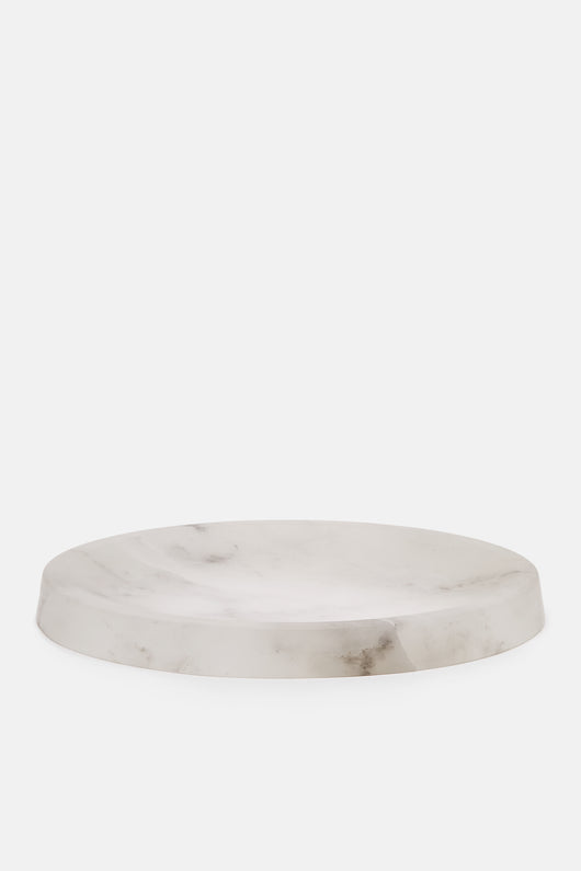 Circular Alabaster Bowl - White