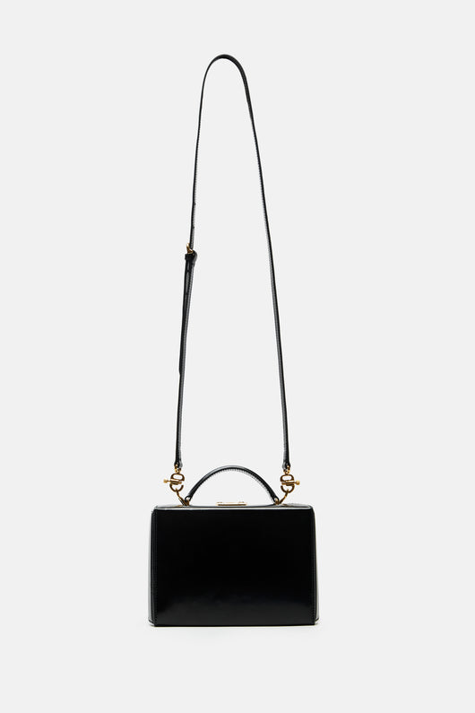 Grace Small Brush Off Box Bag - Black