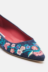 Titto Embroidered Flat - Jean Embroidery