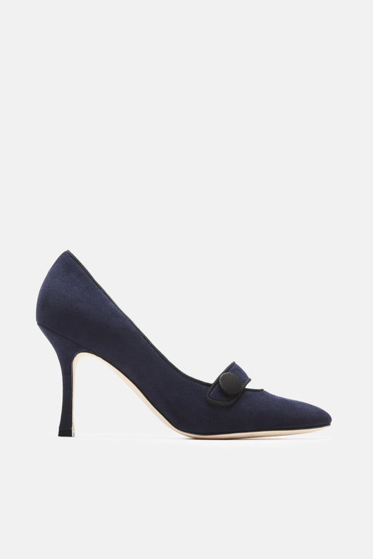 Decampy Pump - Blue Suede