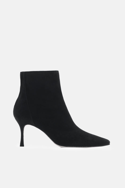 Lace Ankle Boot - Black Suede