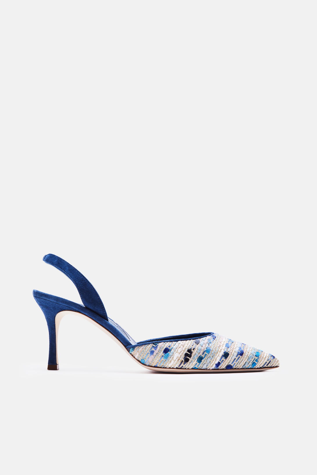 Carolyne Tweed Slingback - Blue Multi