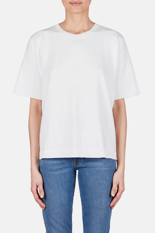 Crewneck Short Sleeve Tee - Off White