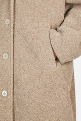 Cocoon Button Front Coat - Tortora