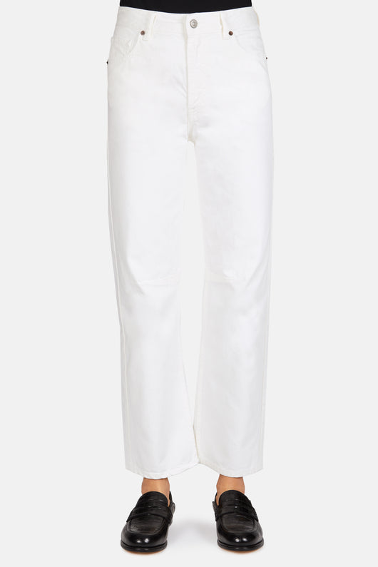 5 Pocket Wide Leg Denim - Off White