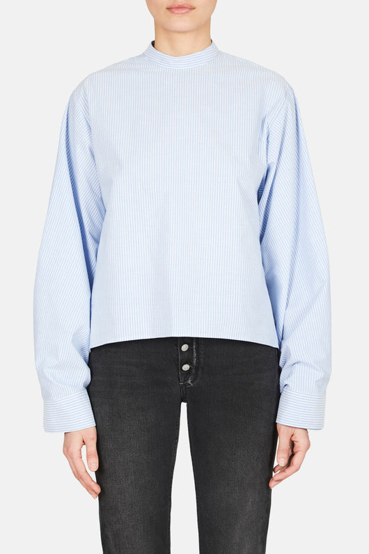 Wide Sleeve Striped Shirt - Riga