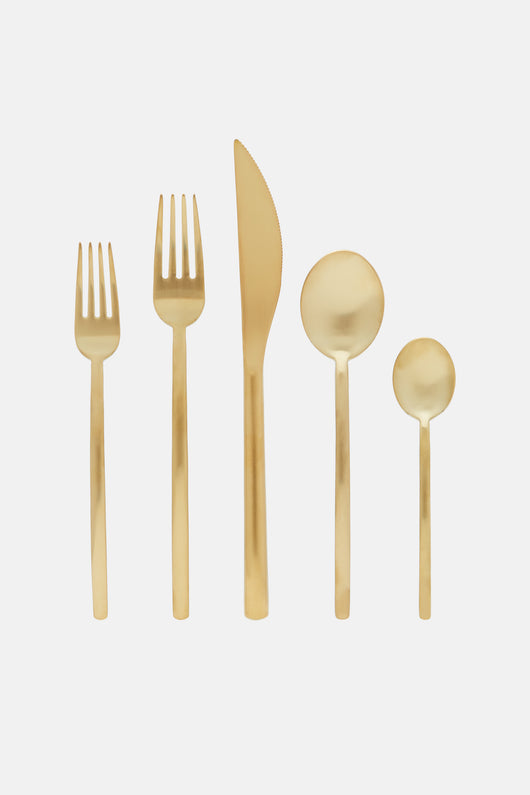 Due Five Piece Place Setting - Oro Ice