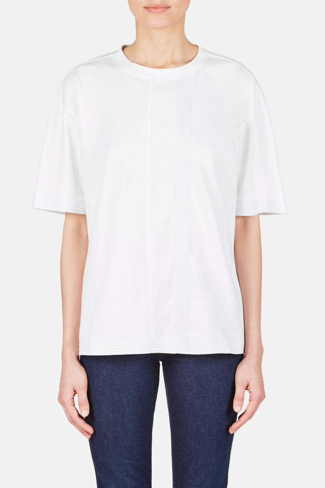Open Tie Back T-Shirt Top - Lily White
