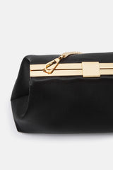 Mini Volume Clutch - Black Silk