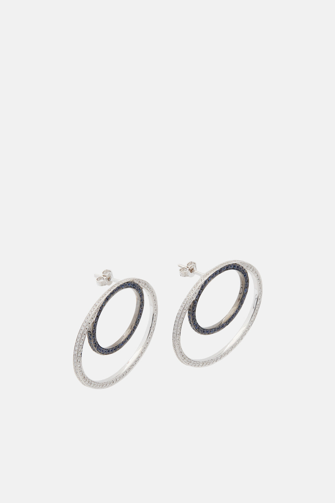 the sapphire double products line earrings white circle modernist