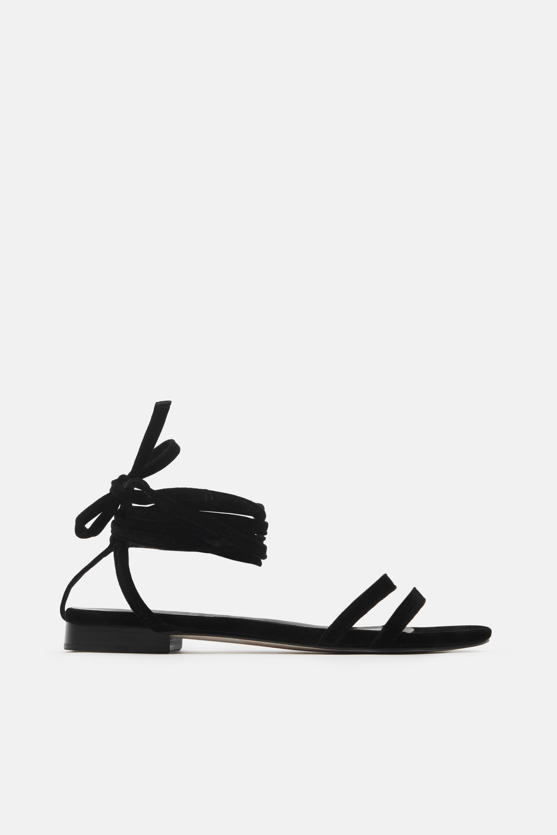 Rosa Lace Up Sandal - Black