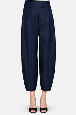 Papina Pleat Front Full Trouser - Navy Blue