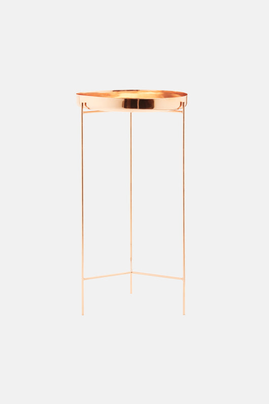 No. 02 Copper Tray Table with Removable Tray