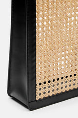 Rattan Bag Tall - Black