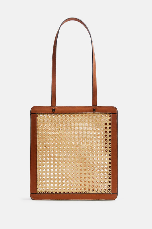 Rattan Bag Tall - Tan