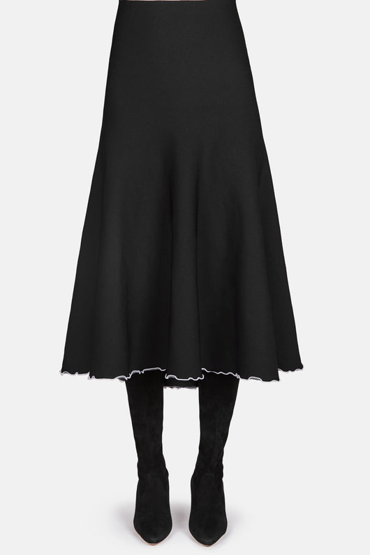 Bandage Knit Skirt - Black