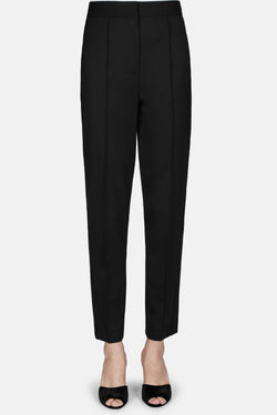 Skinny Pant with Pintuck Side Stripe - Black