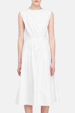 Dress 48 Cinched Back Dress - Tissue White