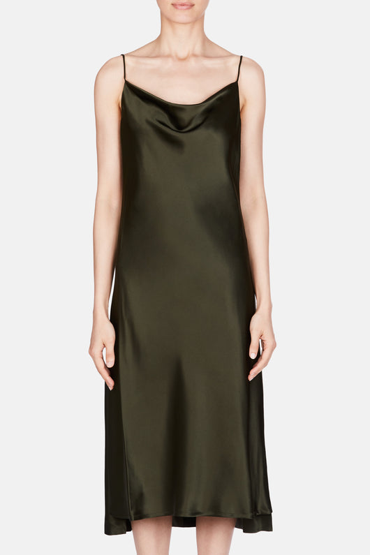 Dress 61 Draped Bias Slip - Olive