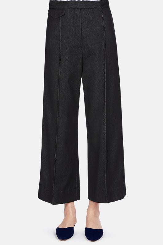 Trouser 37 New High Waisted Trouser - Dark Indigo