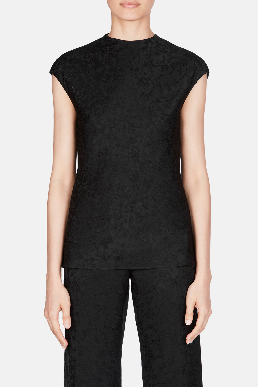 Shirt 53 Cap Sleeve Top - Jet Black