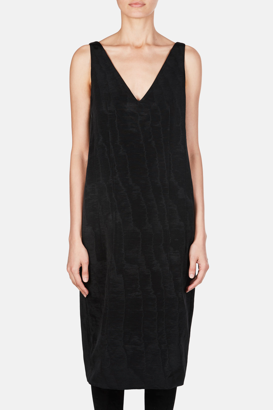 Dress 67 Deep V Cocoon Dress - Black