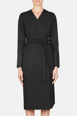 Dress 70 Belted Wrap Dress - Black