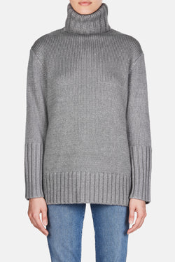 Knit 44 Oversized Rollneck Sweater - Dove Grey