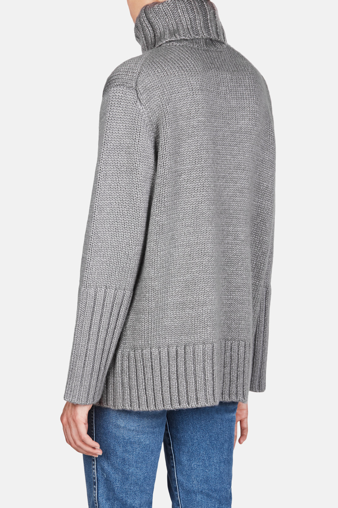 c6210941d5a Knit 44 Oversized Rollneck Sweater - Dove Grey