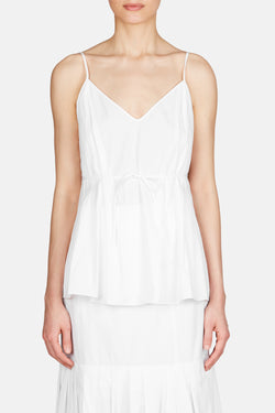 Tank 20 Pleated Camisole - White