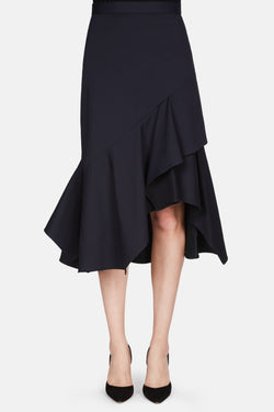 Cotton Gabardine Skirt - Navy