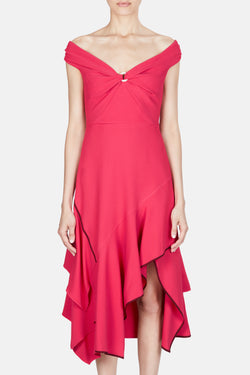 Cady Off-Shoulder Dress - Pink