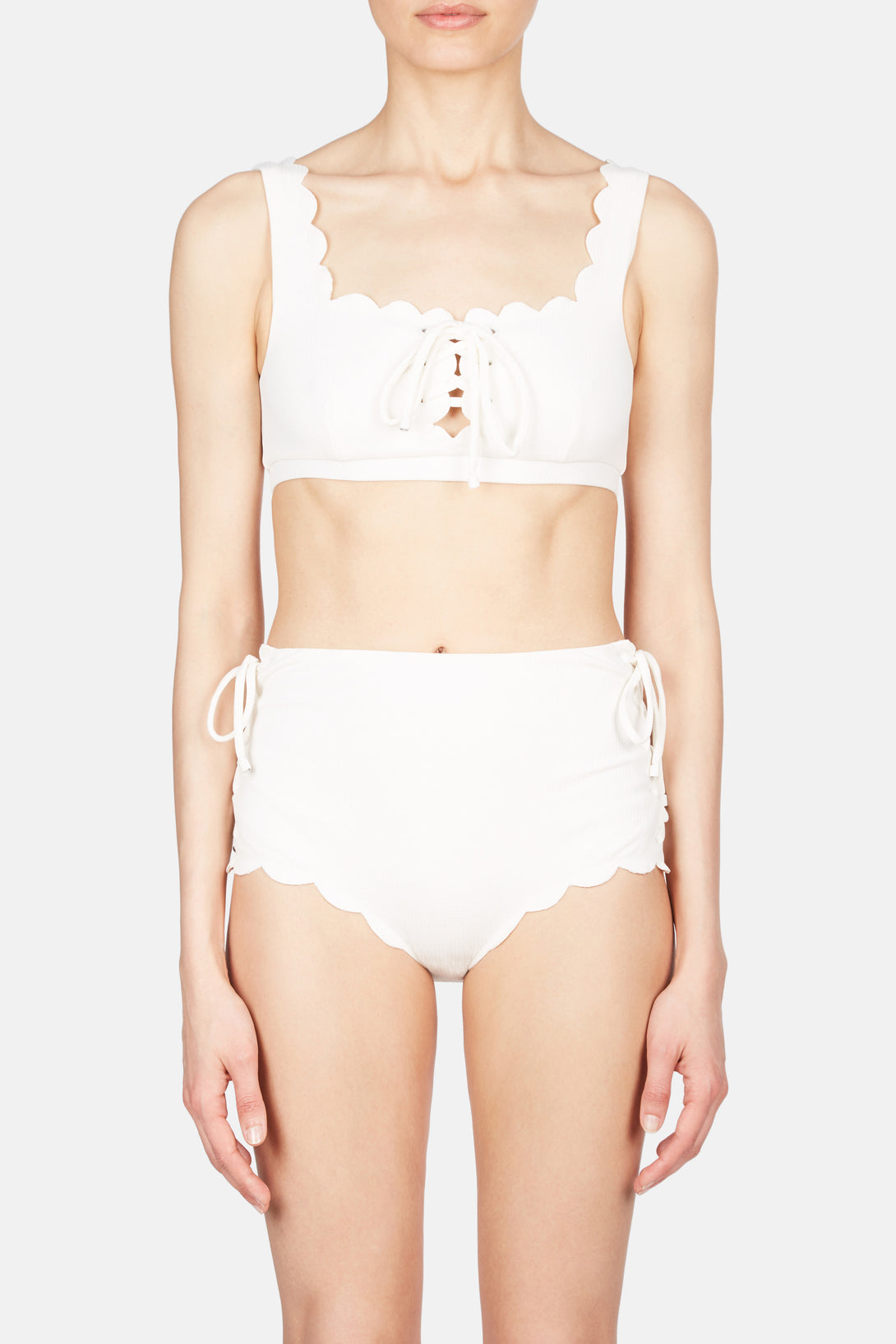 Palm Springs Tie Bikini Top - Coconut