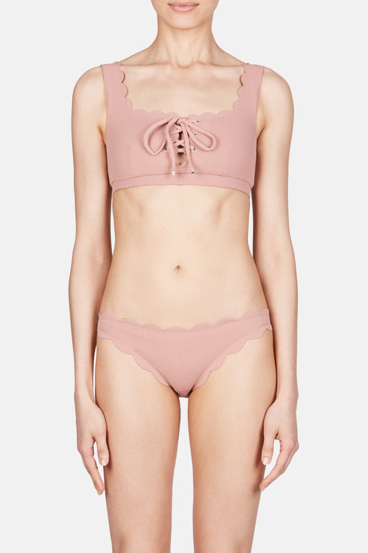 Palm Springs Tie Bikini Top - Pink