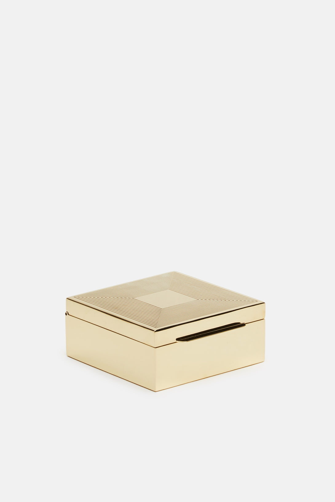Polished Brass Box - Square Lines