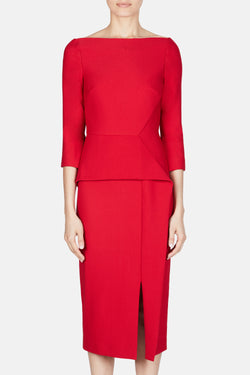 Ardingly Dress - Rose Red