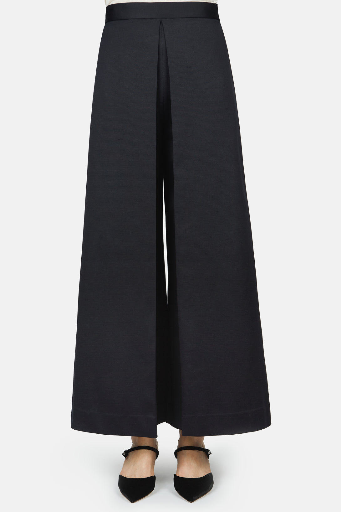 Pleat Front Culotte - Navy
