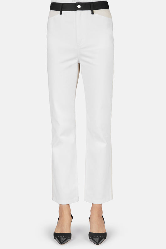 Cropped Skinny Flare Jean - White