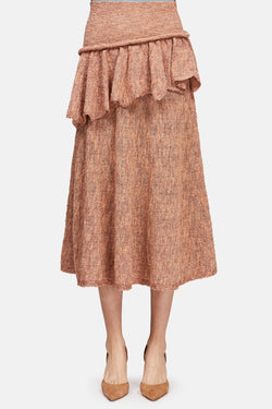 Ruffle Skirt - Tea Rose