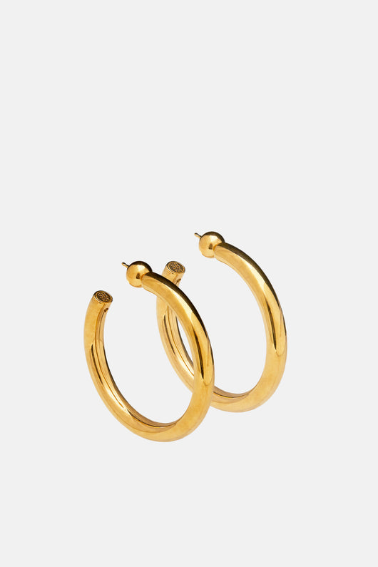 Medium Everyday Hoops - Gold Vermeil