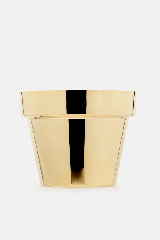 Medium Flower Pot - Brass - Medium