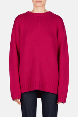 Courtney Wool-Cashmere Pullover - Cherry