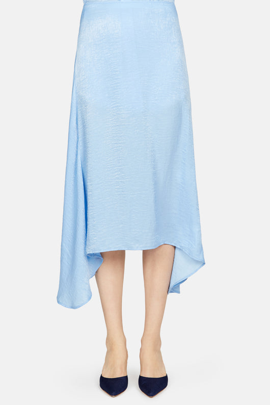 Darby Asymmetric Skirt - Milky Blue