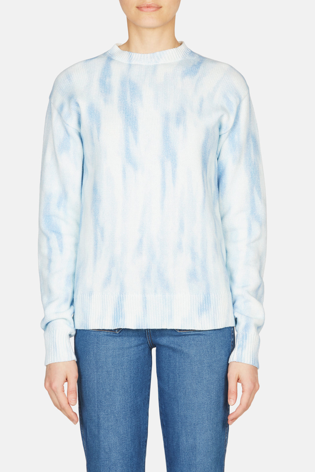 Courtney Tie Dye Crew - Milky Blue