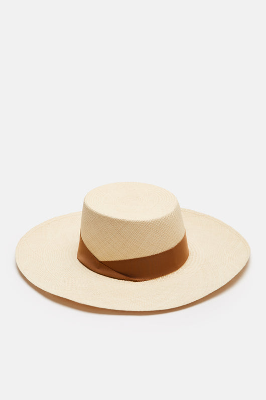 Gondola Long Brim Cordovez Hat - Natural/Sable