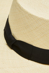 Cordovez Premium Italian Bow Band Hat - Natural/Black