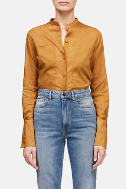 Shirt with Extended Pockets - Caramel
