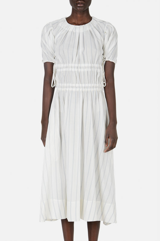Abito Orsolina Gathered Waist Stripe Dress - Striped Muslin